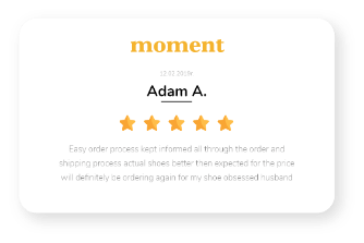 review from moment
